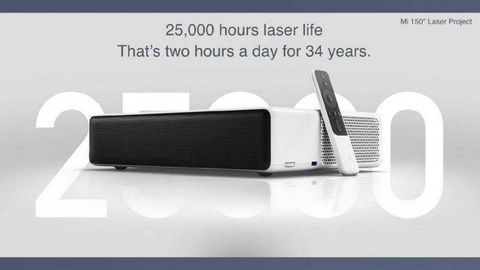 Представлен проектор Xiaomi Mi Laser Projection TV стоимостью $1470: диагональ 150 дюймов с расстояния 50 см
