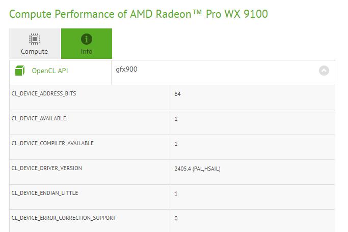 Radeon Pro WX 9100 получит новейший GPU AMD