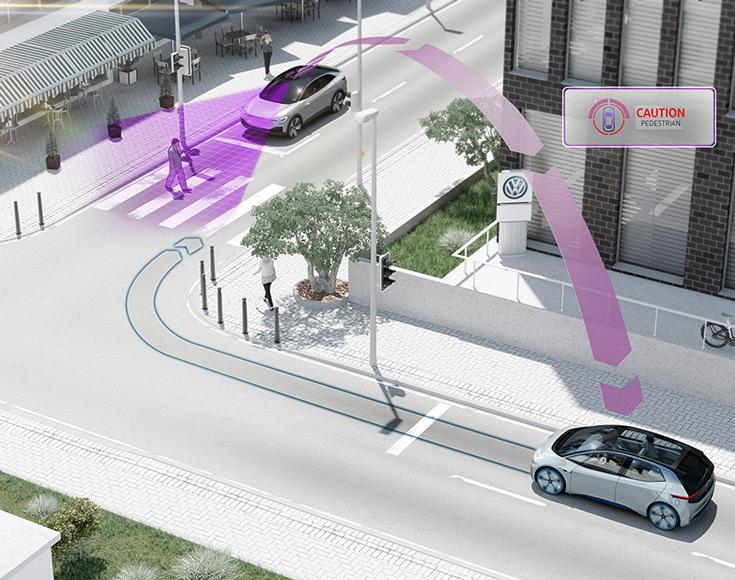 Чтобы повысить безопасность дорожного движения, Volkswagen начнет оснащать автомобили средствами межмашинного взаимодействия pWLAN