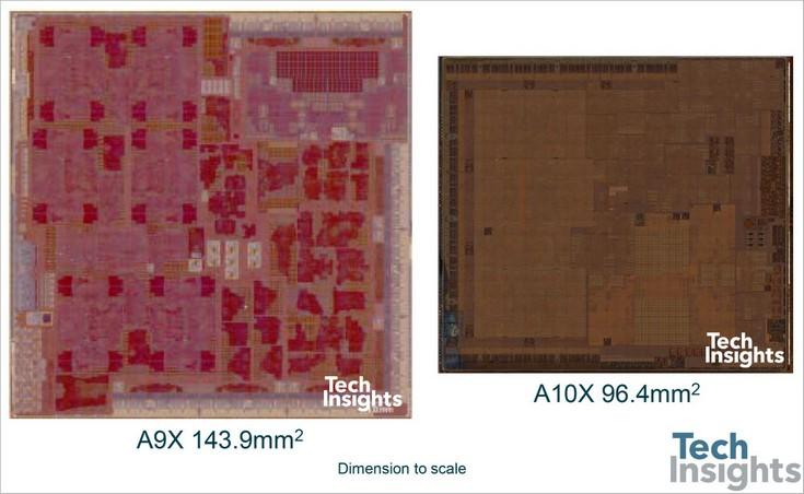 Специалисты TechInsights сделали фотографии кристалла SoC Apple A10X