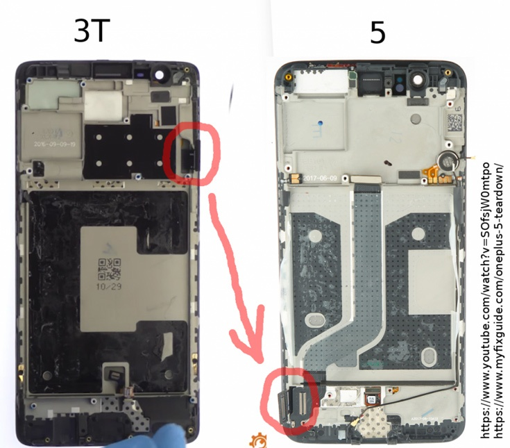 Экраны в смартфонах OnePlus 5 установлены вверх ногами