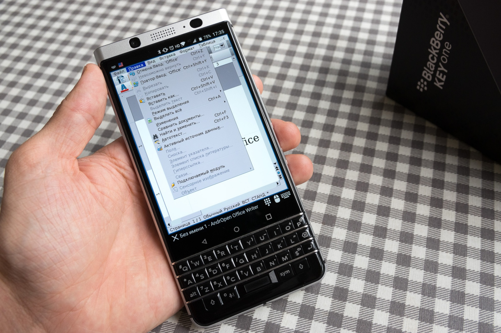 BlackBerry KEYone: о клавиатуре - 4