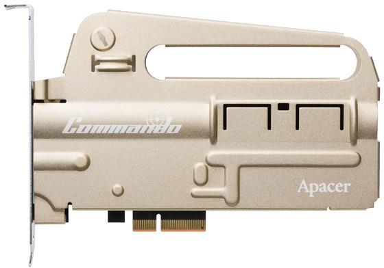Твердотельный накопитель Apacer PT920 Commando с интерфейсом PCIe поддерживает NVMe