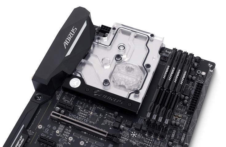 Водоблок EK-FB GA AX370 Gaming RGB Monoblock предназначен для системных плат Gigabyte X370
