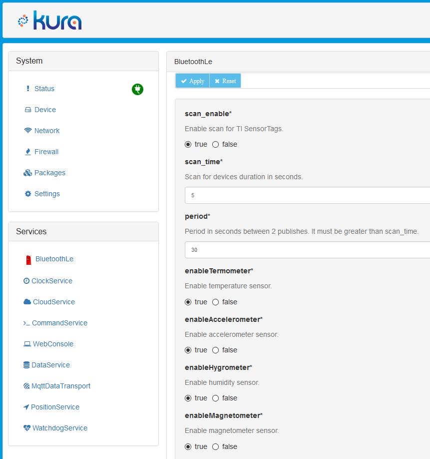 Kura web example
