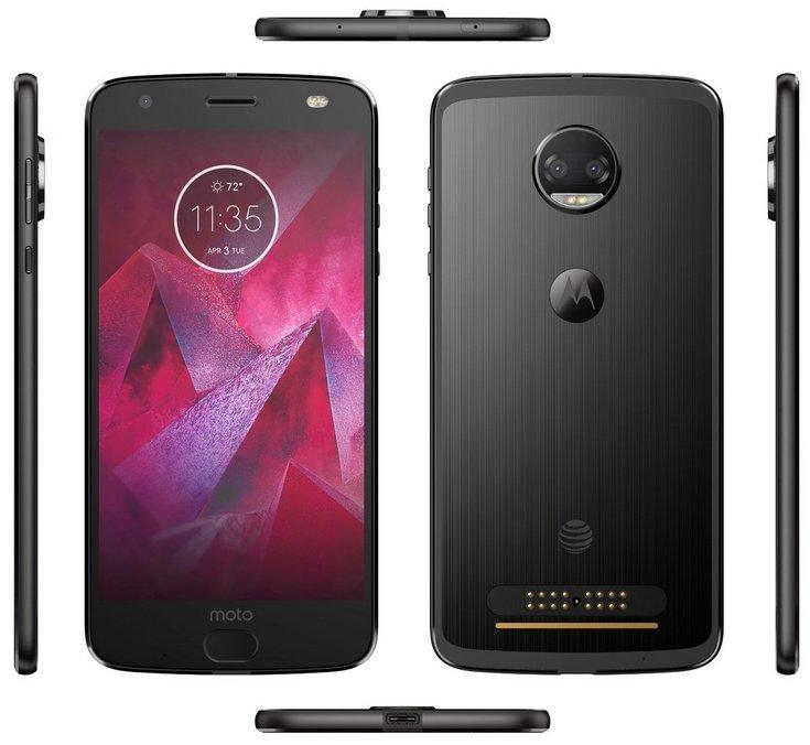 Опубликованы изображения смартфона Moto Z2 Force