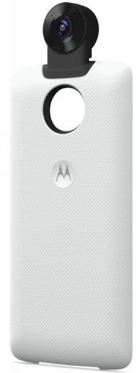 Представлен аксессуар Moto 360 Camera Mod для смартфонов Moto Z phones