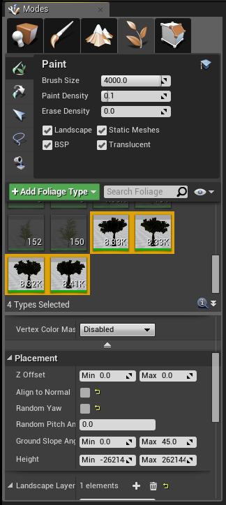 Как создать билборд-текстуру растительности в Unreal Engine 4 - 5