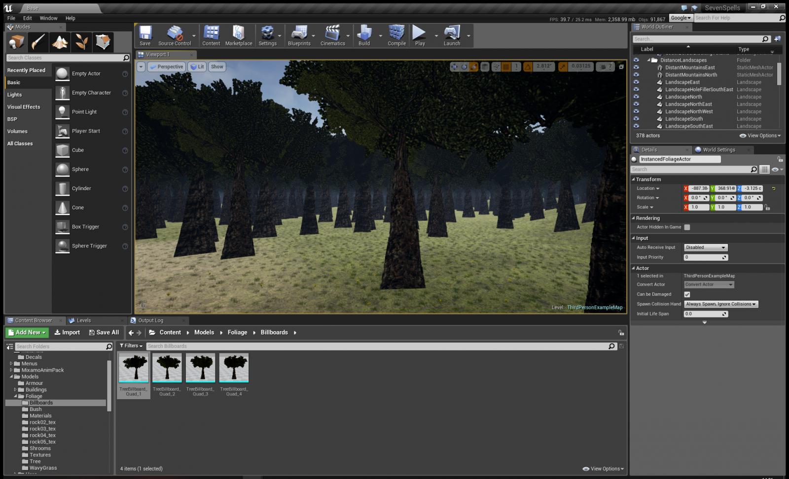 Как создать билборд-текстуру растительности в Unreal Engine 4 - 6