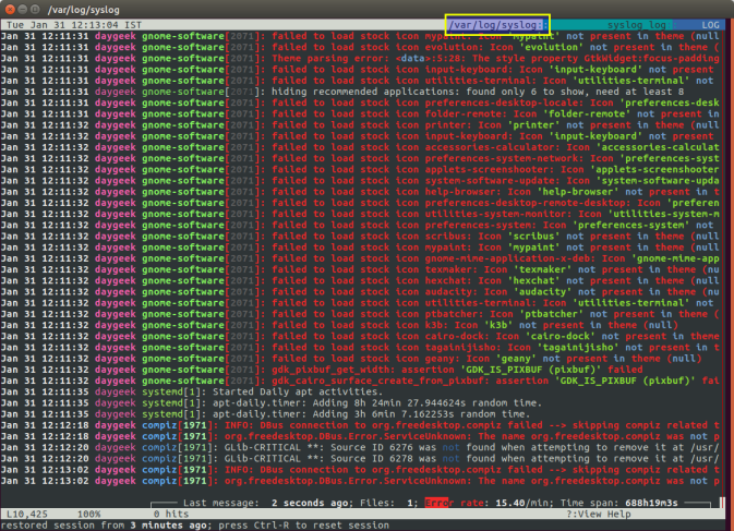 Лог файлы Linux по порядку - 2