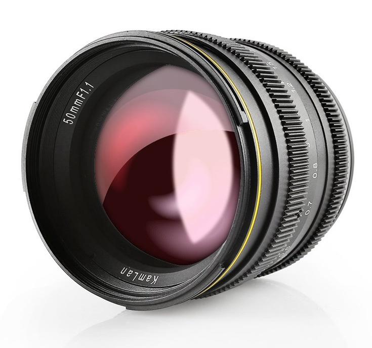 Объектив SainSonic Kamlan 50mm F1.1 выпускается в вариантах с креплением Sony E и Canon EOS M