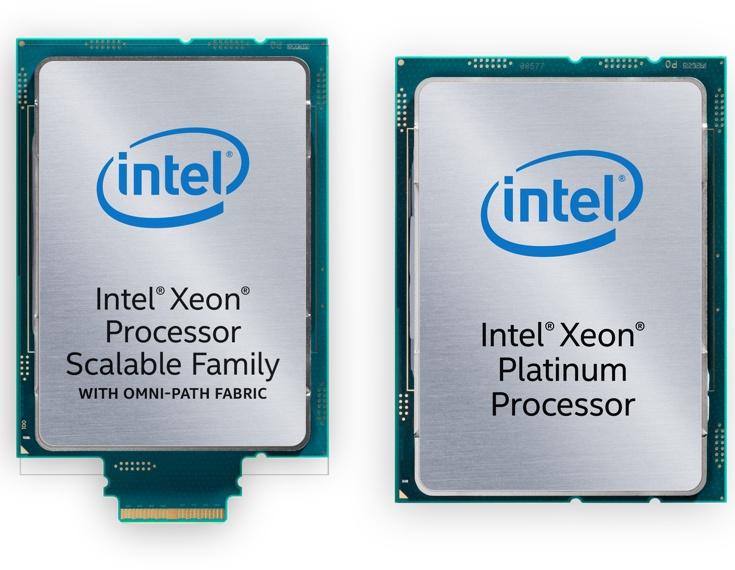 Процессоры Intel Xeon Scalable разделены на пять линеек