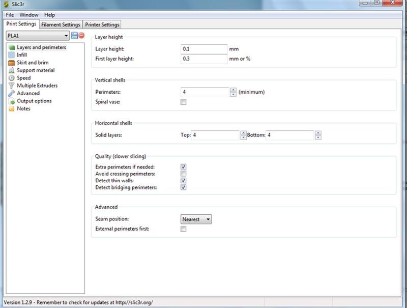 3D принтер 3D Старт — настройка слайсера SLIC3R для Repetier-Host - 4