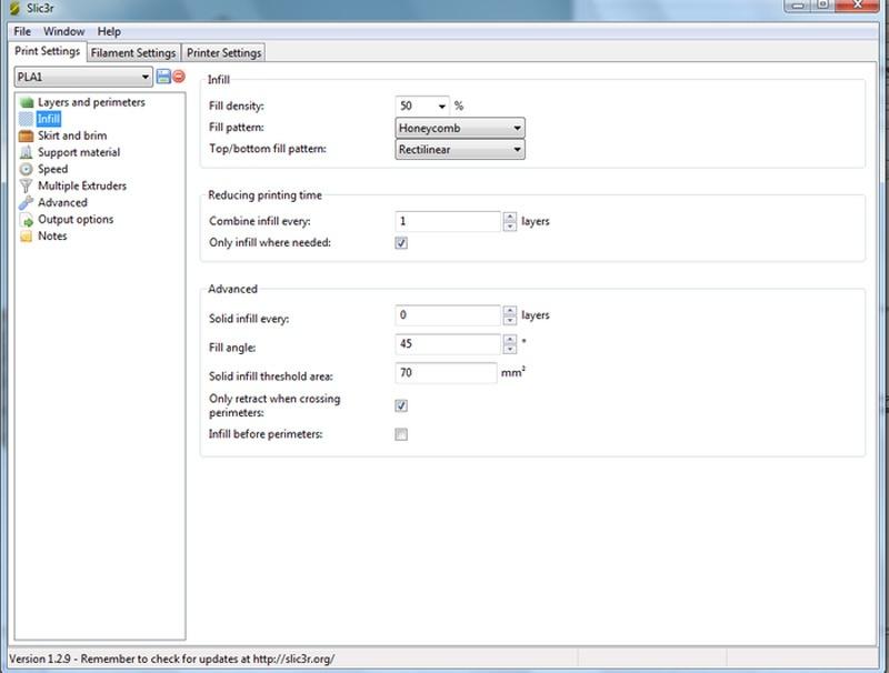 3D принтер 3D Старт — настройка слайсера SLIC3R для Repetier-Host - 5