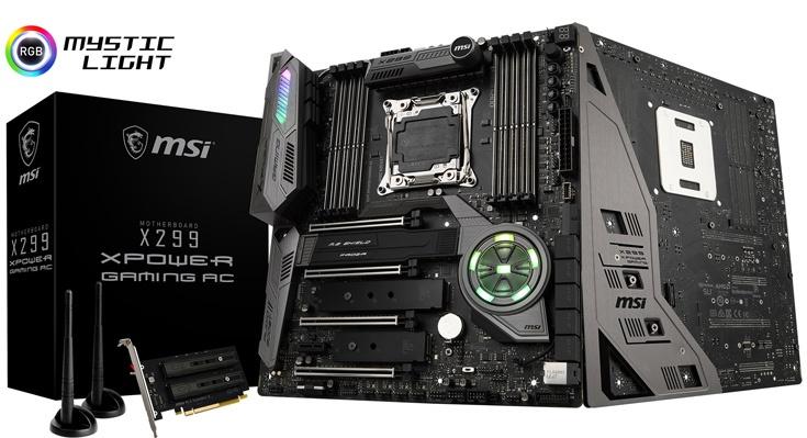 Системная плата MSI X299 XPower Gaming AC предназначена для процессоров Intel Core X