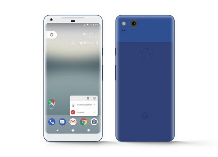 Опубликованы новые изображения смартфона Google Pixel XL 2017