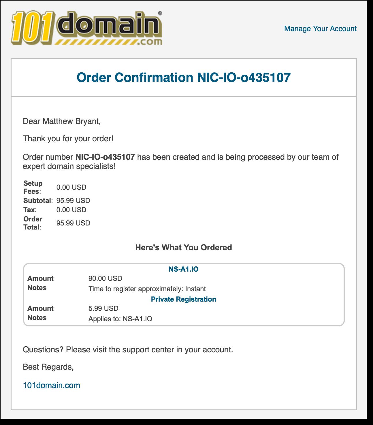 Захват всех доменов .io с помощью таргетированной регистрации - 3