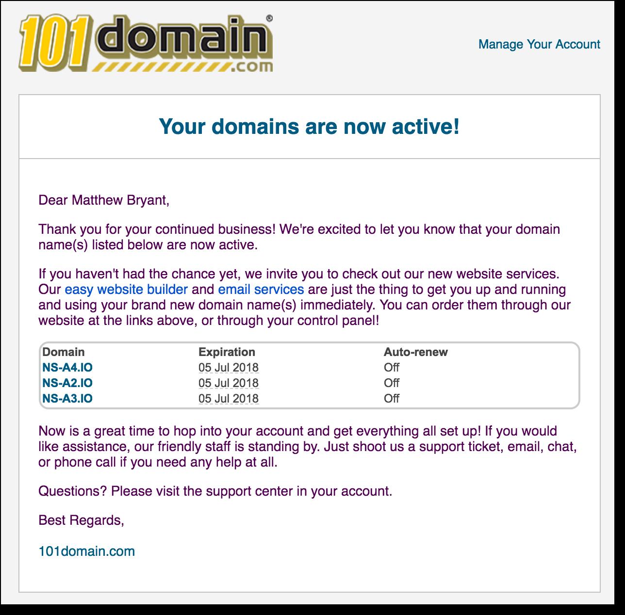 Захват всех доменов .io с помощью таргетированной регистрации - 7