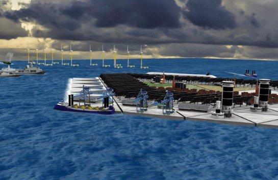 Голландцы создадут искусственный плавучий остров