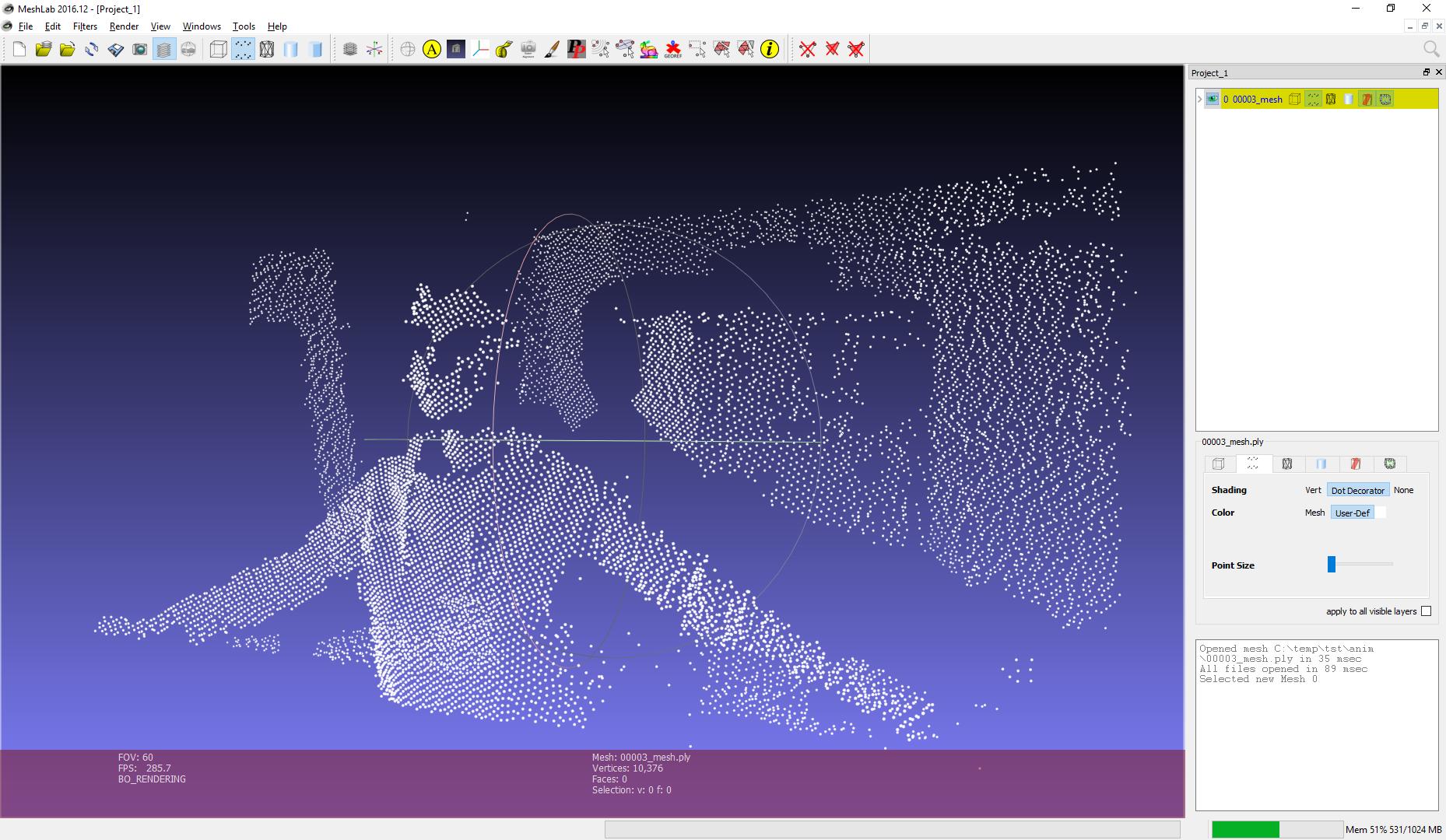 Снимаем «4D видео» с помощью depth-сенсора и триангуляции Делоне - 4