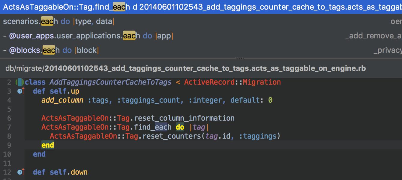 RubyMine 2017.2: Docker Compose, автокоррекции RuboCop в редакторе, улучшенный VCS - 10