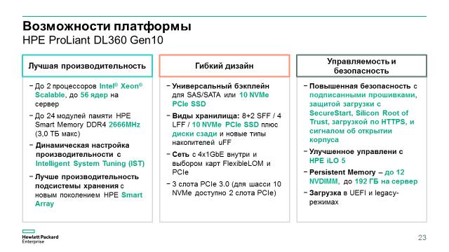 Компания HPE начала продажи новых серверов HPE ProLiant Gen10 - 13