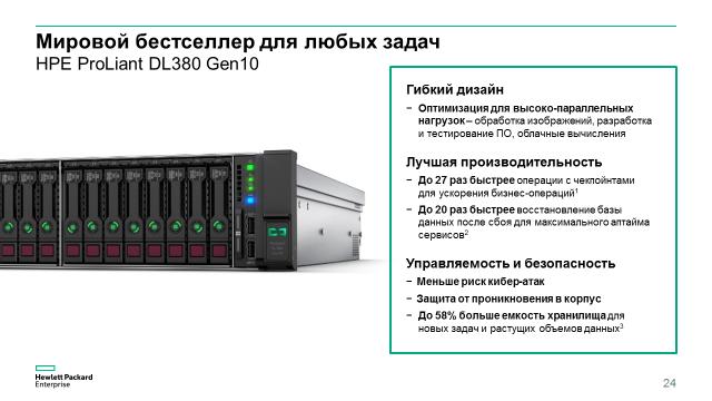 Компания HPE начала продажи новых серверов HPE ProLiant Gen10 - 14