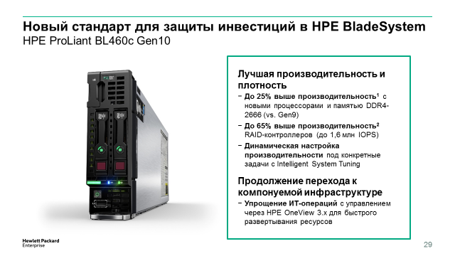 Компания HPE начала продажи новых серверов HPE ProLiant Gen10 - 19