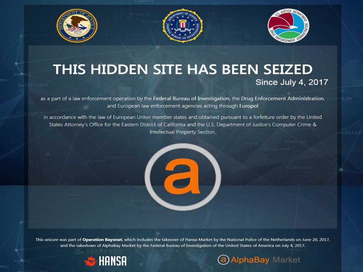 Власти США закрыли две крупнейшие наркобиржи в даркнете: Hansa и AlphaBay - 1