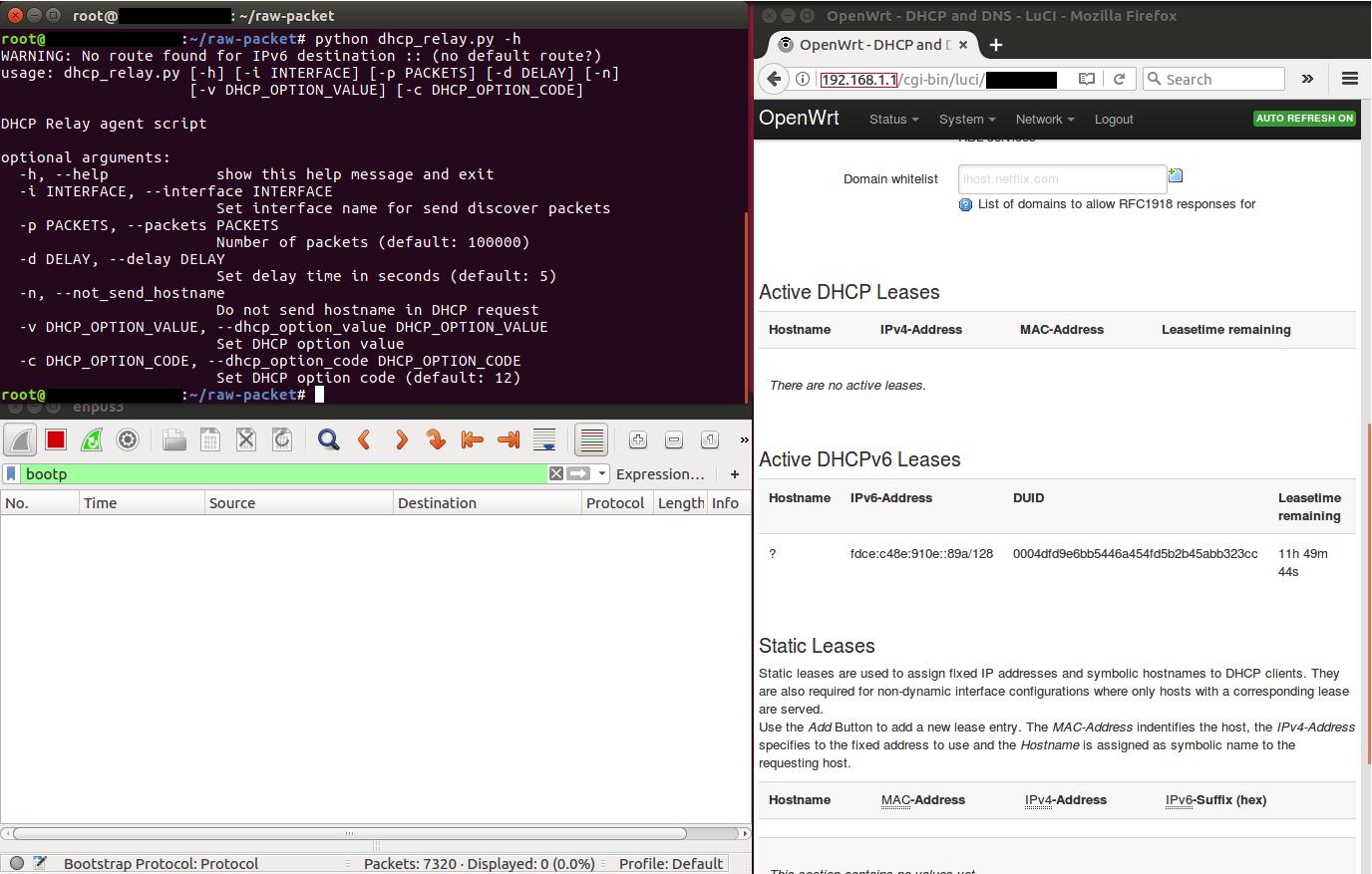 DHCP relay script help