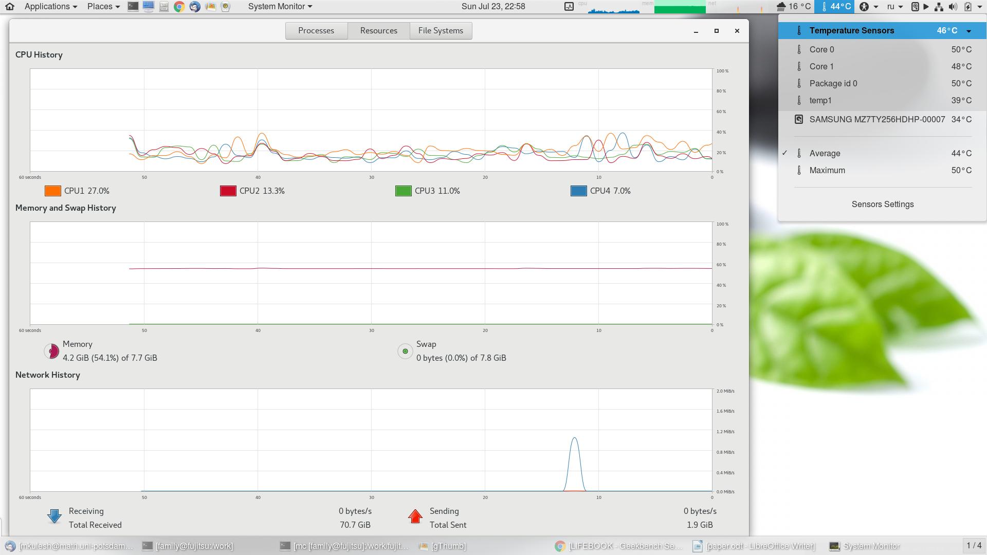 Опыт использования бизнес-ноутбука FUJITSU LIFEBOOK E746: дом вместо офиса, Linux вместо Windows - 8