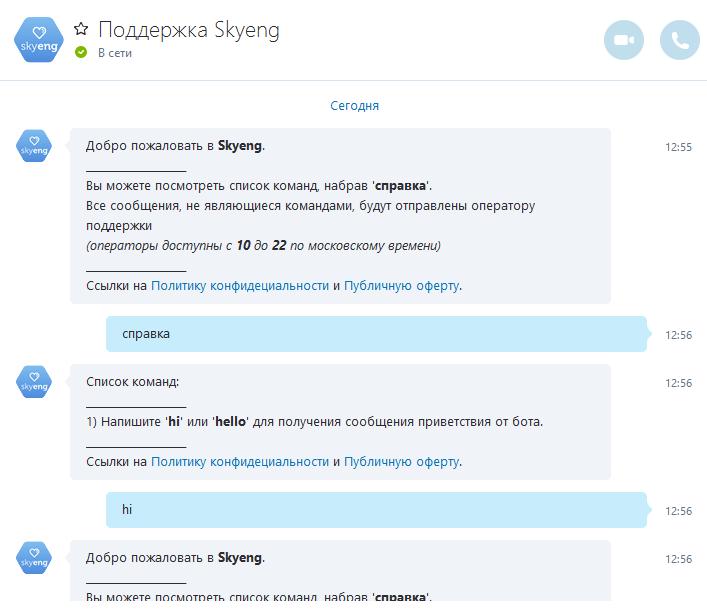 Skype-бот с человеческим лицом (на Microsoft Bot Framework V3 и Slack API) - 10