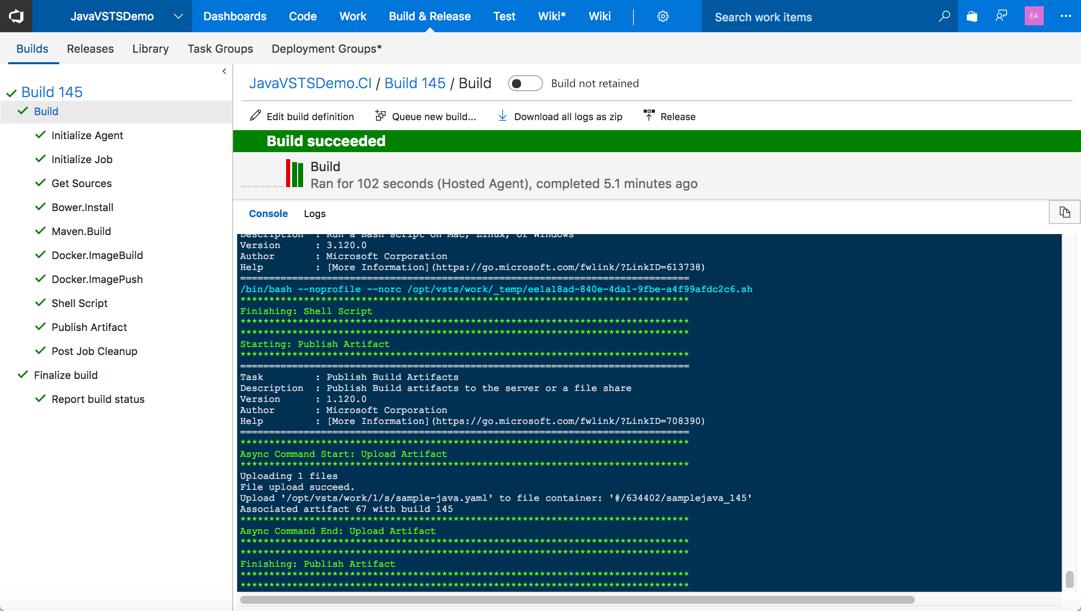 Автоматизация CI-CD для Java приложений с помощью Microsoft Visual Studio Team Services - 20