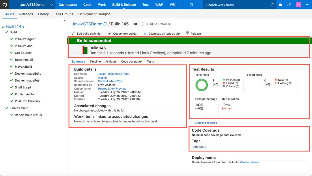 Автоматизация CI-CD для Java приложений с помощью Microsoft Visual Studio Team Services - 21