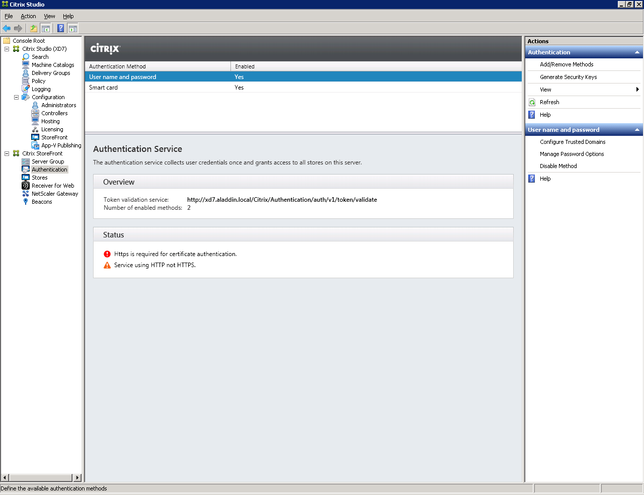 Настройка аутентификации в Citrix XenDesktop 7.x c использованием смарт-карт JaCarta PKI - 33