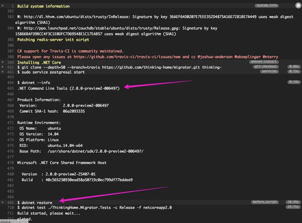 Как настроить Travis CI для проекта .NET Core + PostgreSQL - 4