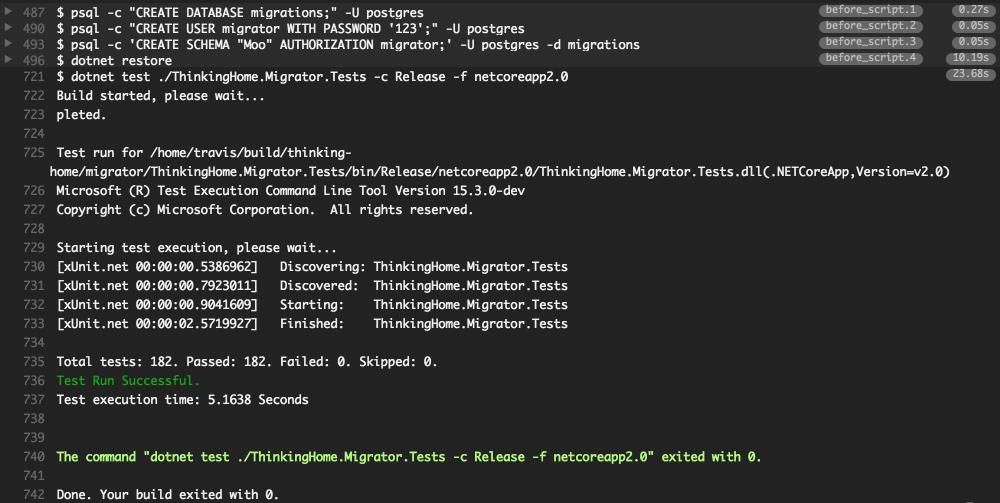 Как настроить Travis CI для проекта .NET Core + PostgreSQL - 7