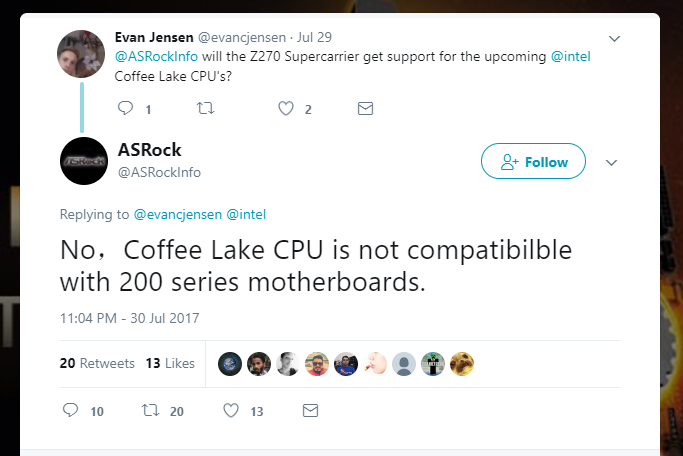 Для процессоров Coffee Lake, возможно, потребуются новые материнские платы - 1