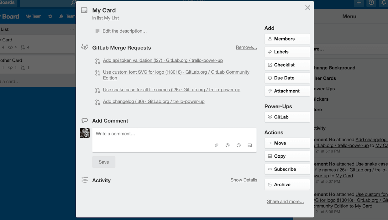 GitLab Power-Up for Trello