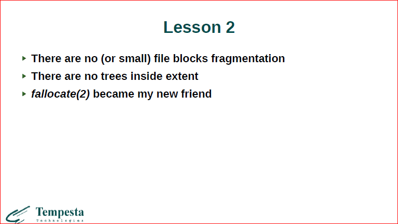Linux Kernel Extension for Databases - 17