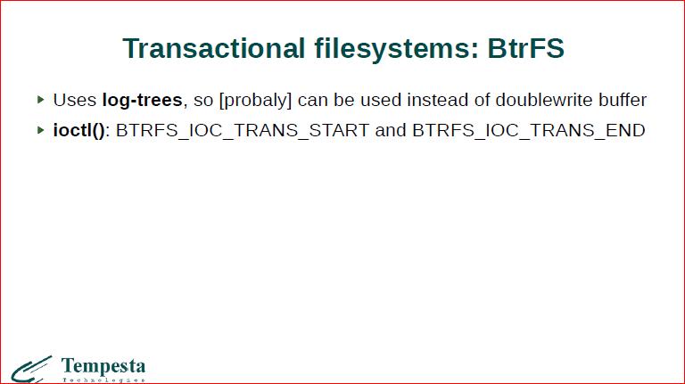 Linux Kernel Extension for Databases - 31
