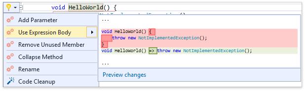 О поддержке языковых фич C# в Visual Studio и в CodeRush for Roslyn - 11