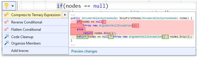 О поддержке языковых фич C# в Visual Studio и в CodeRush for Roslyn - 12