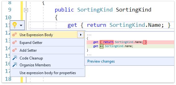 О поддержке языковых фич C# в Visual Studio и в CodeRush for Roslyn - 9