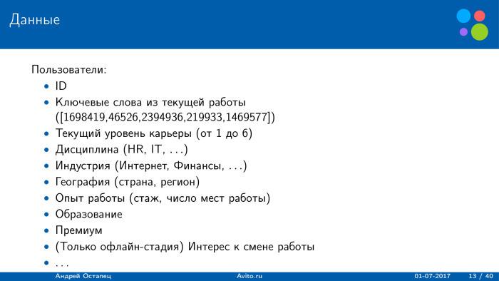 Построение рекомендаций для сайта вакансий. Лекция в Яндексе - 2