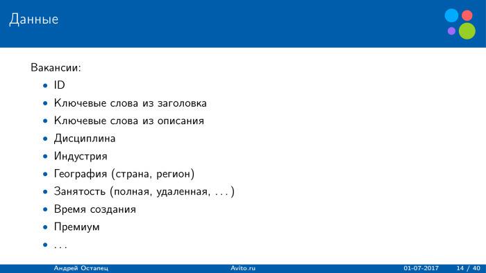 Построение рекомендаций для сайта вакансий. Лекция в Яндексе - 3