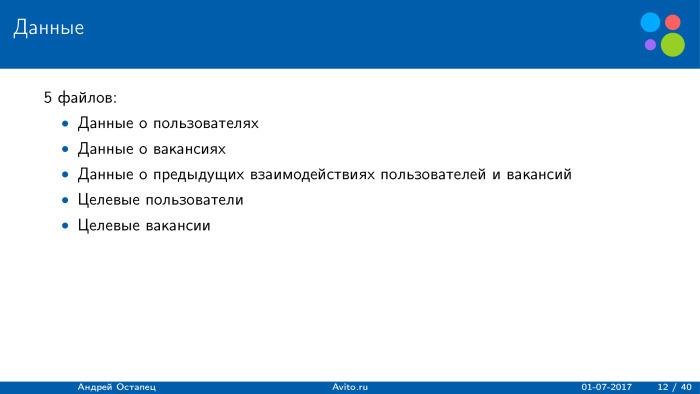 Построение рекомендаций для сайта вакансий. Лекция в Яндексе - 1