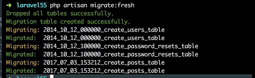 migrate-fresh