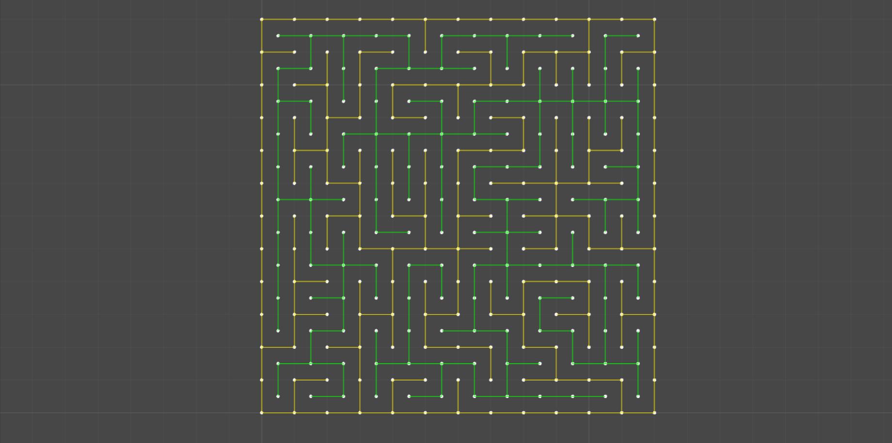 Генерация лабиринта алгоритмом Эллера в Unity - 2