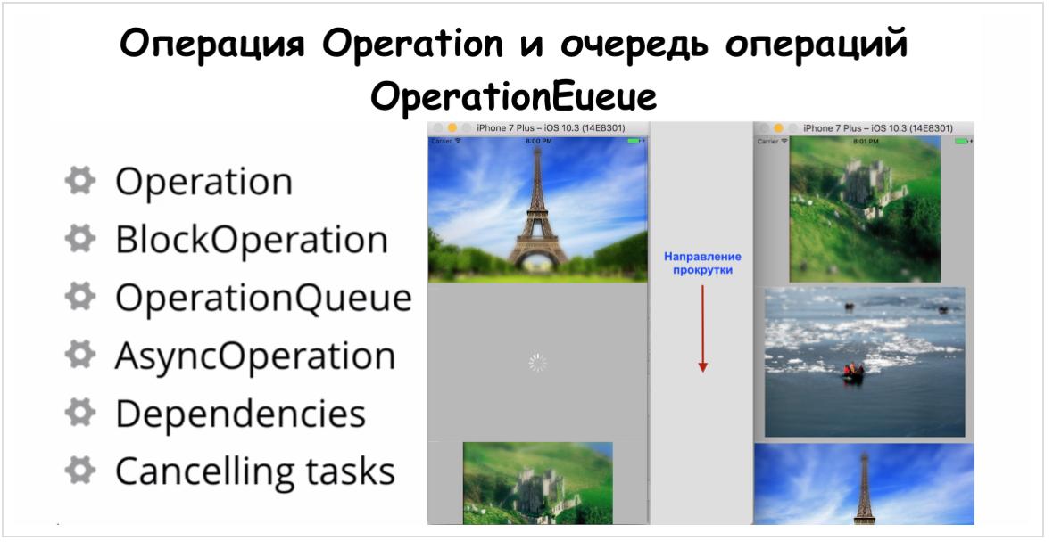 Concurrency в Swift 3 и 4. Operation и OperationQueue - 87